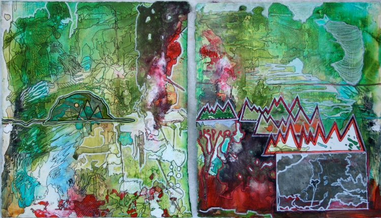 Everything is as Everything Else, 2012 Mixed media on paper