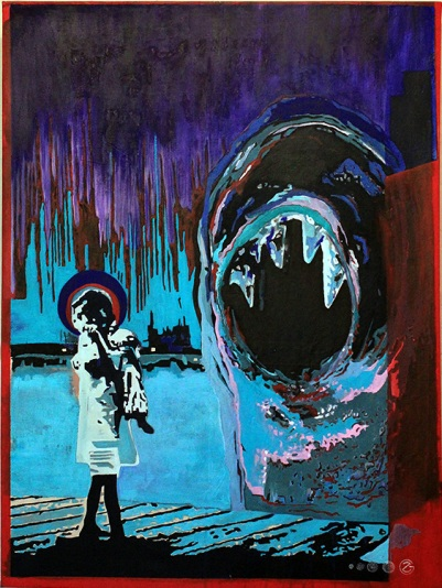 UNCERTAINTY ON A DAY LIKE THE FUTURE Acrylic on canvas $10.00